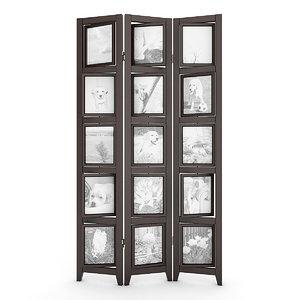 picture frame room divider obj