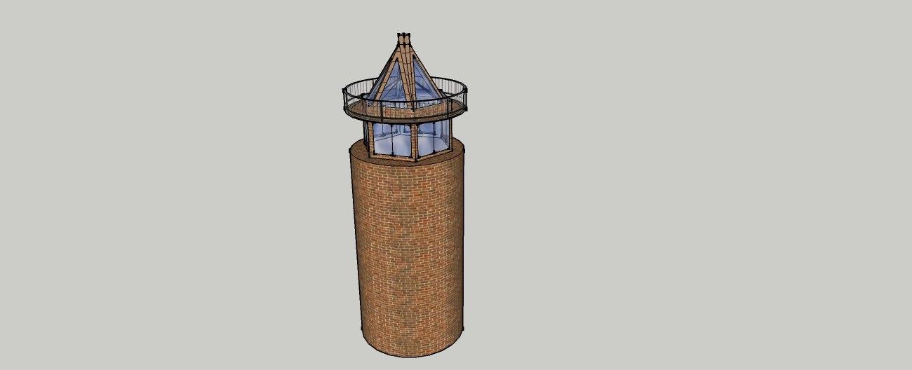 beacon lighthouse minaret light 3d model