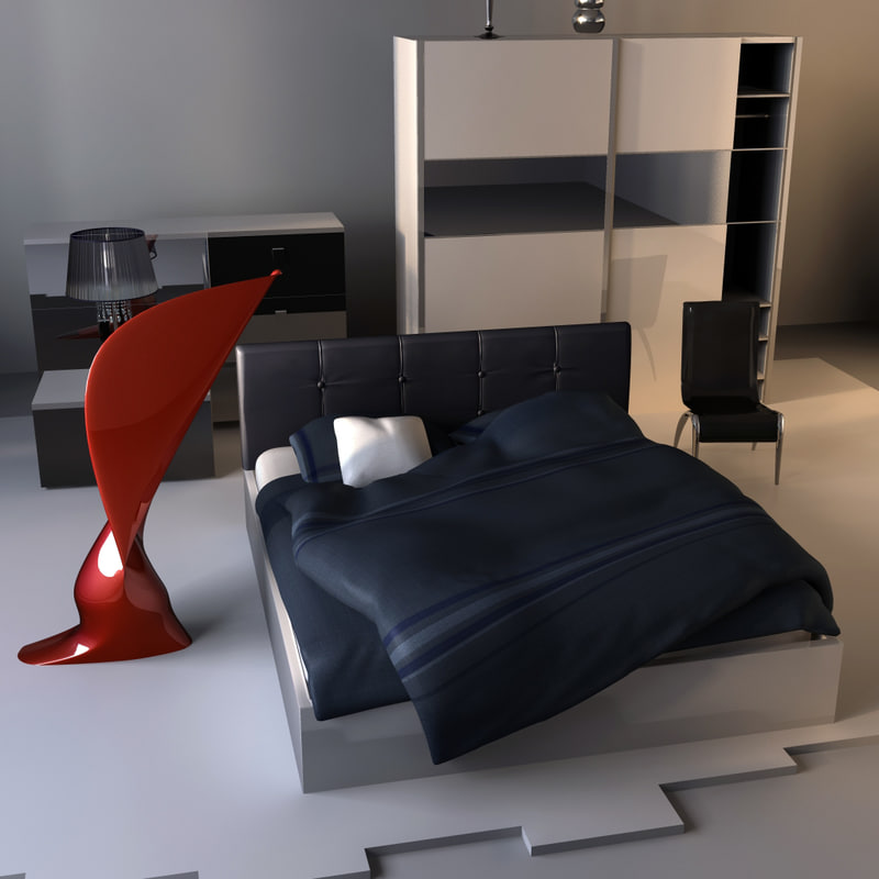 modern room 3d model