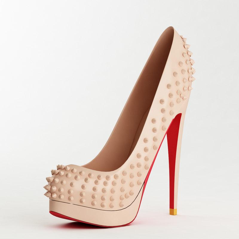 shoe female 3d model