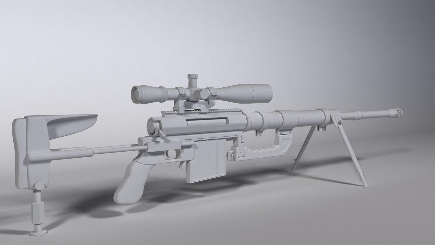 m200 sniper rifle 3d model