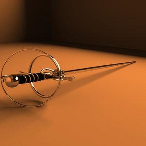 3ds max rapier sword
