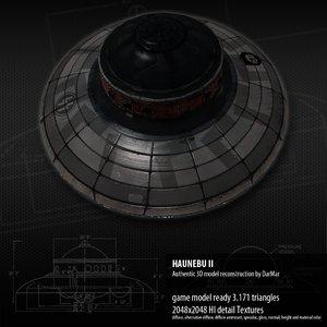 haunebu ii 3d model