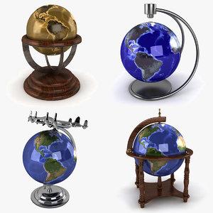 levitation globe world 3d 3ds