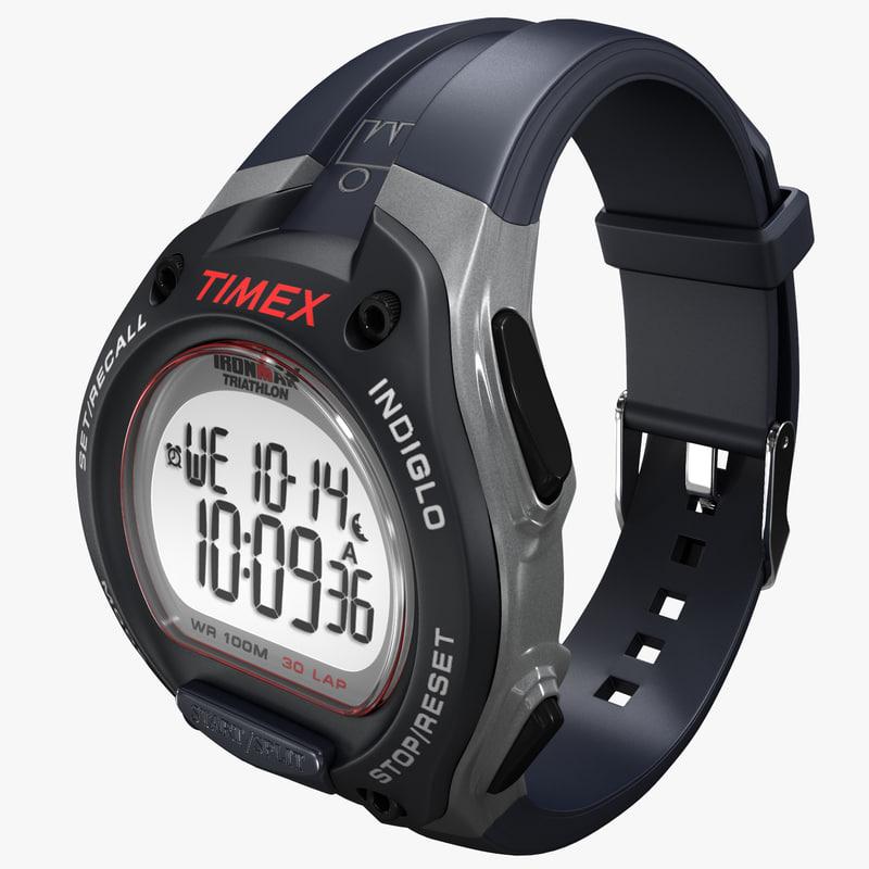 3ds max digital sport watch