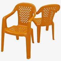 3dsmax monobloc chair 2
