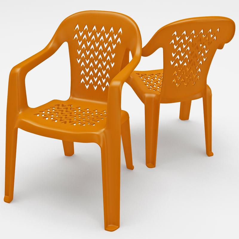 Monobloc Chair: 3dsmax Monobloc Chair 2