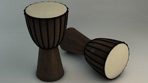 3d african drum model