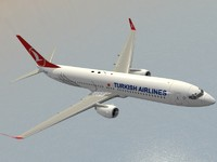 boeing 737-900 er turkish 3d dxf