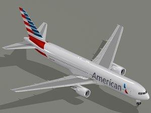 max boeing 767-300 er american