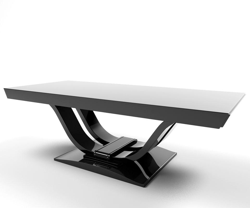 black table 3d 3ds