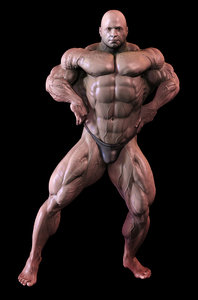 bodybuilder pose 3d 3ds