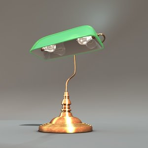 c4d green bank lamp