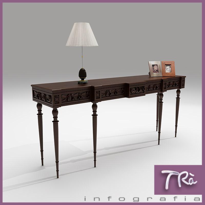 maya antique hall table classic