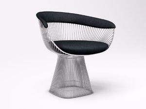 chair knoll platner obj