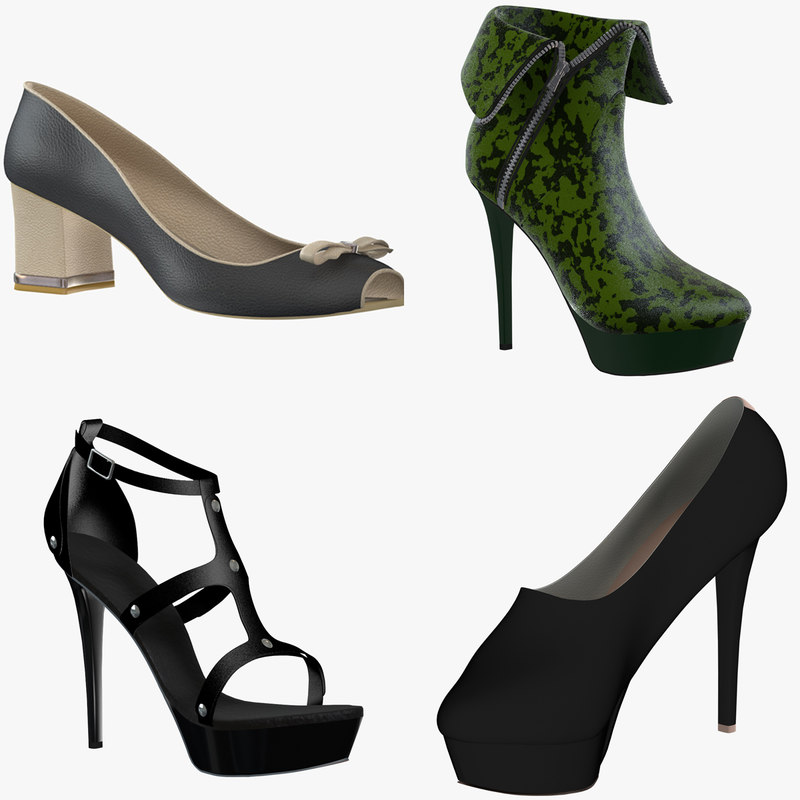 3d model female shoes