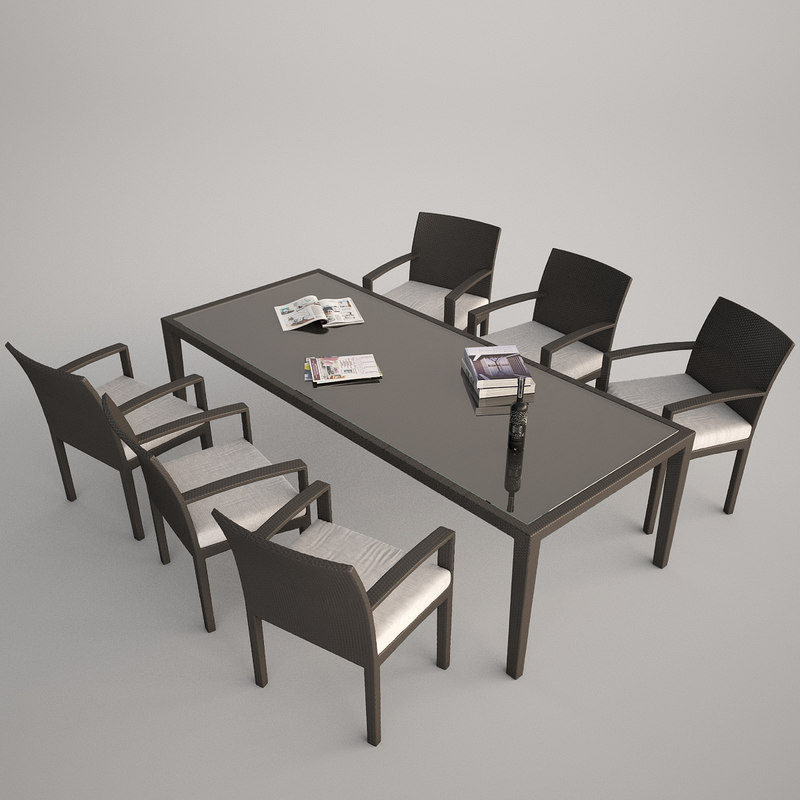 panama lounge chair rattan 3d max