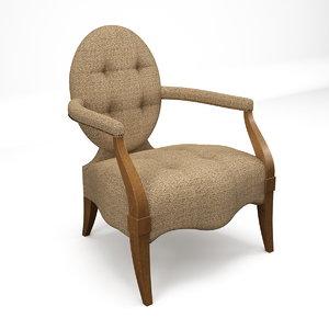 3d armchair chair grand