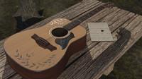 3d acoustic guitar model