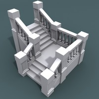 step staircase 3d model
