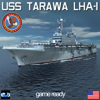 3d model uss tarawa lha 1