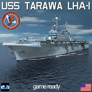 3d model uss tarawa lha 1