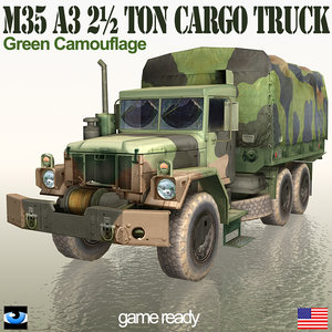 3ds military truck m35 a3