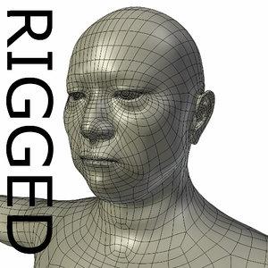 rigged base mesh old obj