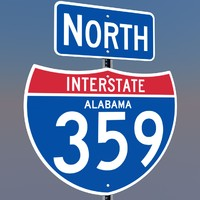 3d interstate 359 signs model