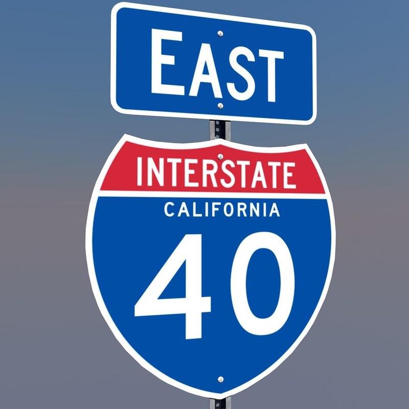 3d c4d interstate signs california