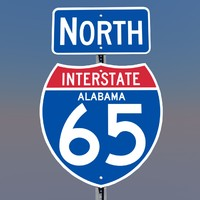 interstate 65 signs alabama c4d