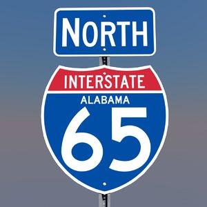 interstate 65 signs alabama c4d