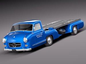 classic antique mercedes benz 3d model