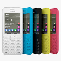 Nokia 206 Black White Cyan Pink Yellow Collection