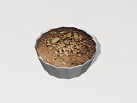 3d model peanut butter cookie