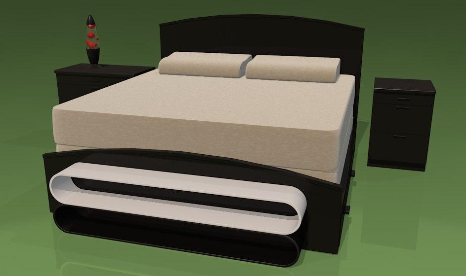 tempurpedic bed 3d model