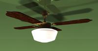 3d model of ceiling fan