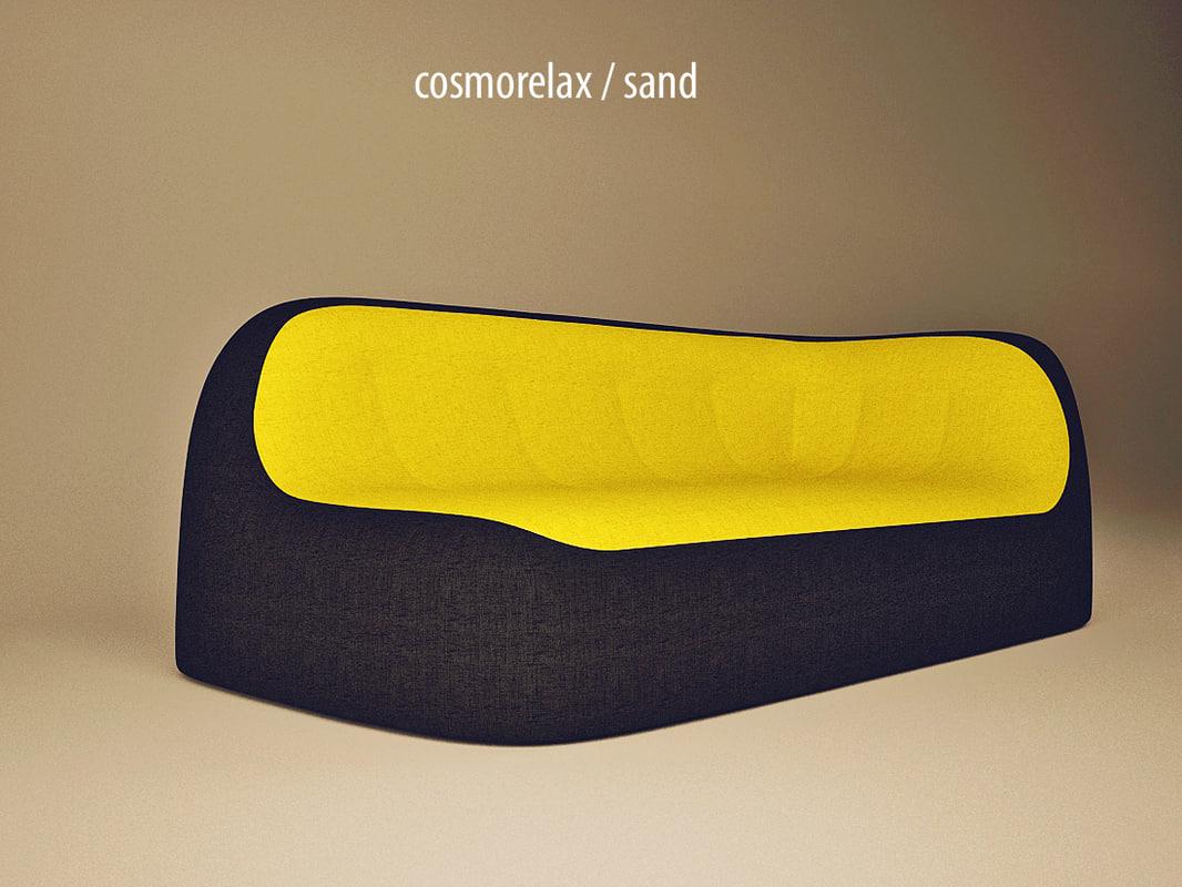 3ds Max Realistic Sofa Sand