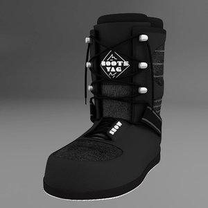 boots snow 3d model