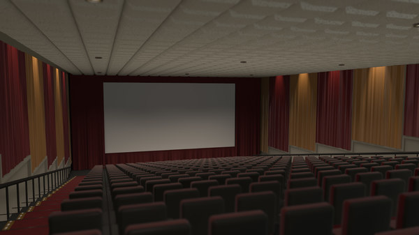 3d model of movie theater stadium seating