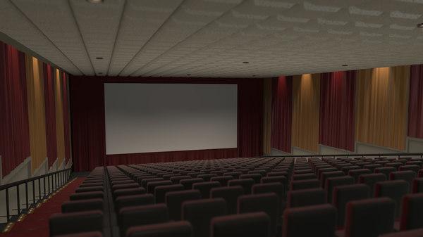 3d model of movie theater stadium seating