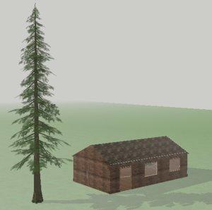 tree forest 3d fbx