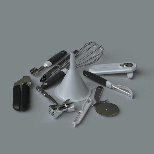 3d model kitchen accessories