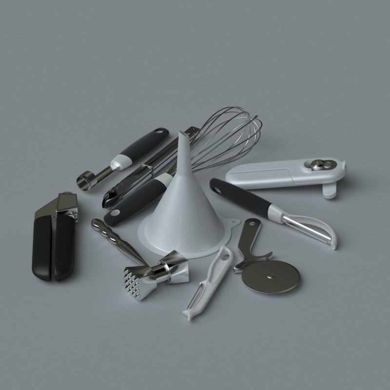 3d model kitchen accessories