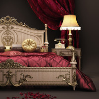 3d scene asnaghi bedroom interiors model