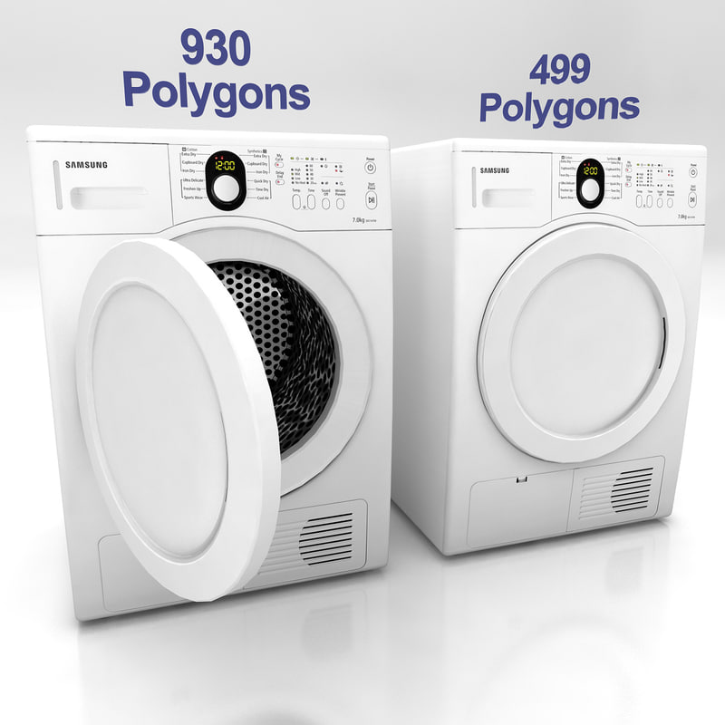 washing dryer washer machine 3ds