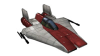 a-wing scifi 3d blend
