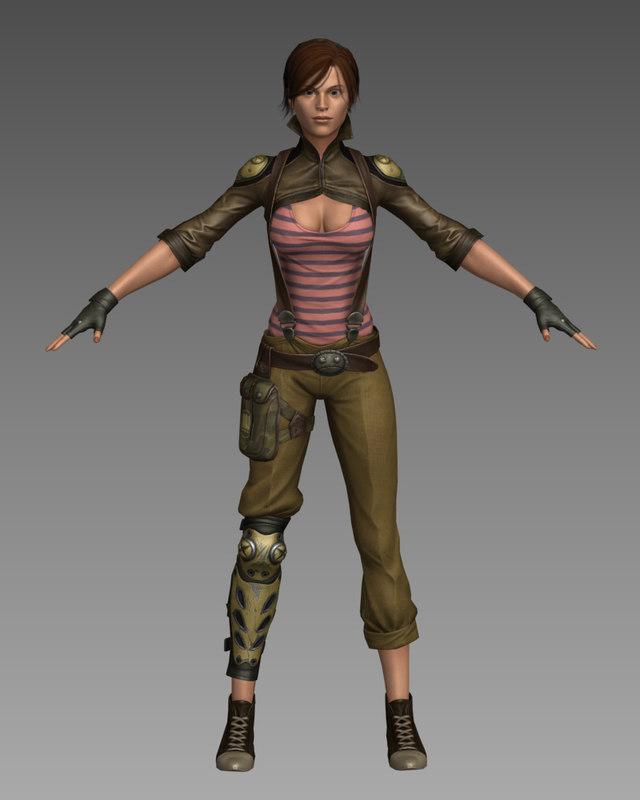 urban woman 3d max