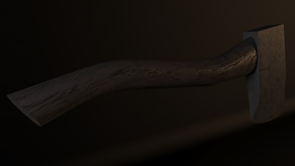 free woodcutting axe 3d model