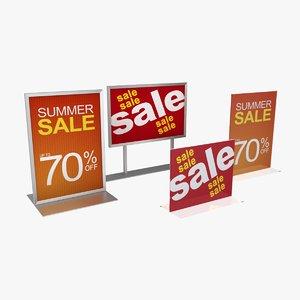 retail display signage 01 3d max